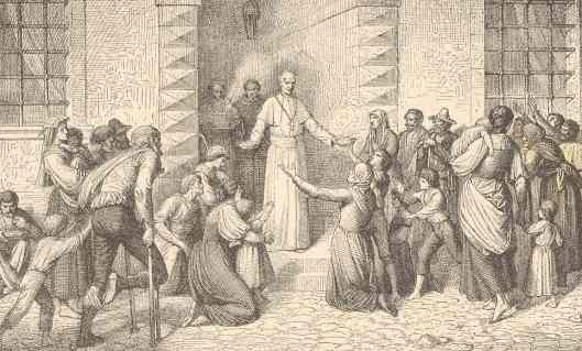 Pope Leo among the poor