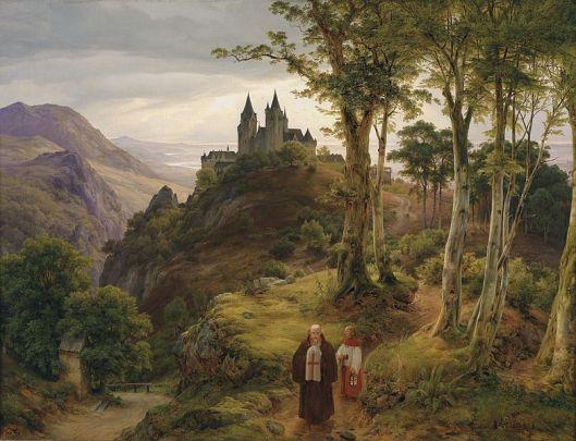 782px-Carl_Friedrich_Lessing_Romantische_Landschaft_mit_Klosteranlage